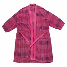 Missoni Patterned Bathrobe | Vintage Designer Robe Nightwear Pink Dressing Gown