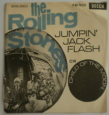 """THE ROLLING STONES JUMPIN' JACK FLASH 1968 SOUTH AFRICA ONLY PS 7"""" 45 Decca"""