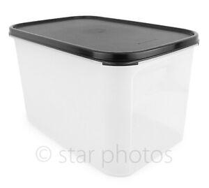 Tupperware Modular Mates 27.5 Cup Rectangular #3 Container w/ Black Seal - New!