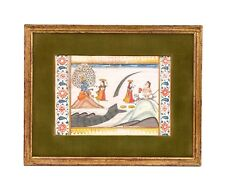 A Framed Antique Indian Miniatue Painting
