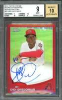 2013 topps chrome red #65 DIDI GREGORIUS rc autograph 16/25 BGS 9 (9 9.5 10 9)