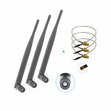 3x 6dBi RP-SMA Dual Band 2.4GHz 5GHz + 3 x 12'' U.fl For Linksys EA3500 Antenna
