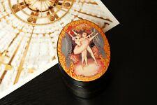 Russian Ballet lacquer box Nutcracker hand-painted jewelry Kholui miniature art