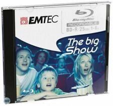EMTEC ECOBDR2516JC BLU RAY DISC RECORDABLE BD-R 25GB 1-6X (5 PEZZI)