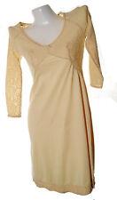 Wacoal Women's full slip 3/4 sleeve beautiful lace top no.14 rose beige sz 34