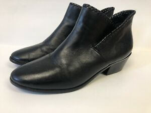 Jack Rogers Womens Black Leather Ankle Boots 8.5