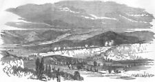 UKRAINE. Siege of Sevastopol. Valley of Inkerman, antique print, 1854