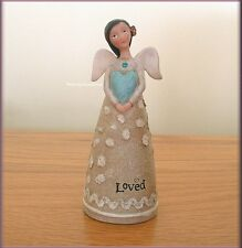 DECEMBER BIRTHDAY WISH ANGEL FIGURE BY KELLY RAE ROBERTS FREE U.S. SHIPPING