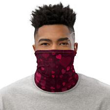 Red Hearts Neck Gaiter for Men / Women Face Mask for Running, Hiking, Fishing