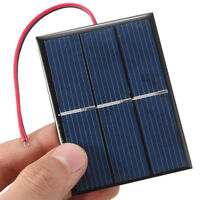 EG_ Mini 1.5V 0.65W 300mA Solar Panel Module Wires for DIY Lights Toys Charger S