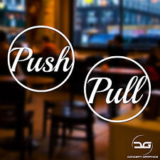 Push And Pull Vinyl Decal Sticker Safety Signs Shop Business Door Window Glass