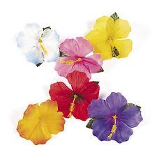 24 Luau Tropical HAWAIIAN SILK Hibiscus Flowers Decorations POOL BEACH PARTY