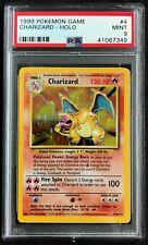 1999 Pokemon Card Base Set Charizard Unlimited 4/102 PSA 9 MINT
