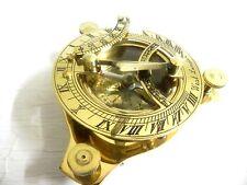 "3"" Nautical Maritime~ West London ~ Brass Sundial Compass Nautical Decor"