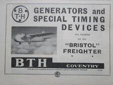 3/1946 PUB BRITISH THOMSON HOUSTON BRISTOL FREIGHTER GENERATOR ORIGINAL  AD