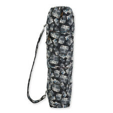 Laurel Burch Black White Polka Dot Wild Cats Quilted Cotton Yoga Bag