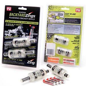 Zings Backyard Sports Outdoor Light Up Flashing Cricket Bails