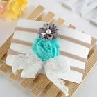 3pcs Kids Girl Baby Toddler Lace Flower Headband Hair Band Accessories Headwear