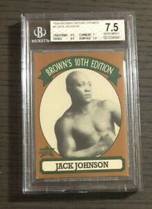 1994 Brown's Boxing JACK JOHNSON Promo Ultra Rare BGS 7.5