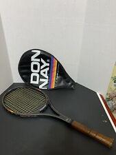 Vintage DONNAY GT-18 Bjorn Borg Tennis Racquet 362 05 Fiber-Wood Midsize W/ Case