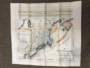 A Map of Die Gros Britannische Colonial Lander in Nord America Map 1740
