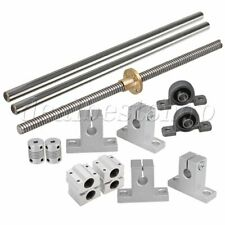 Horizontal 2mm Lead Rod 20cm Linear Shaft Rail Support Slide Block Set