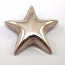 Authentic Tiffany & Co Puffy Star Pin Brooch QX