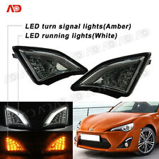 For Scion FRS Toyota GT86 2013- SMOKED LED Corner Lamp Turn Signal Light 2PCS