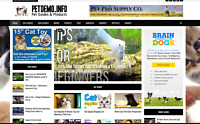 Pet Guides / Affiliate product website,Automated-Premium designed/website