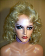 Drag Queen Wig Medium Length Layers Marla Soft Blonde