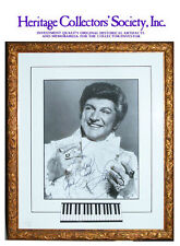 Liberace, famous American pianist, signed photograph from 1983