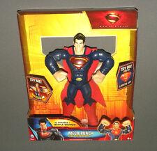 """Mega Punch Superman Man of Steel Talking Action Figure Lights & Sounds 10"""" NEW"""