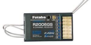 Futaba R2006GS 6 Channel 6 Ch 2.4ghz S-FHSS Receiver RX FUTL7606 FHSS 6J 8J 14SG