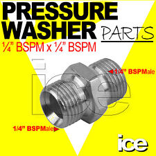 1/4 BSP MALE X 1/4 BSP MALE HIGH PRESSURE WASHER HOSE LANCE TRIGGER CONNECTOR