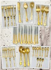 Oneida Community Golden Duet Flatware - Electroplated Place Settings - 49pc