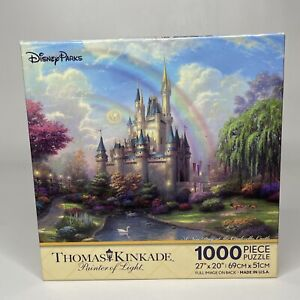 New Disney Parks Thomas Kinkade A New Day At The Cinderella Castle 1000 Pieces