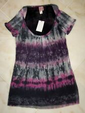 NWT Sweet Pea Stacy Frati Tie Dye Padma Blush Scoopneck Mesh Top Small