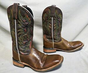 MENS LAREDO 7865 BROWN LEATHER HIKING WORK RODEO COWBOY BOOTS SZ 8 D