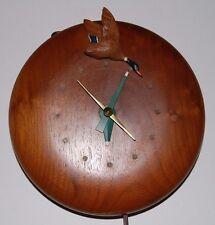 Rare, Vintage V.F. Christmann Hardwood Company Wood Mallard Duck Clock
