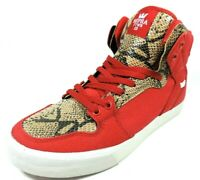 Supra Vaider S28194 Mens Shoes Canvas Basketball Sneakers Red Black Vintage Rare