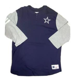 Dallas Cowboys Mitchell & Ness 2.0 Home Henley 3XLT