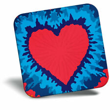 Awesome Fridge Magnet - Red Heart Tie Dye Pattern Cool Gift #14875