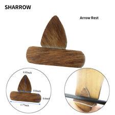 5 Sets Archery Arrow Rest Traditional Leather Arrow Silent Plate Recurve Bow