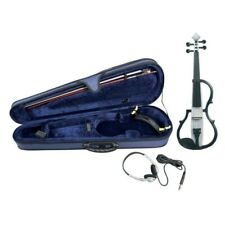 Gewa Violino Elettrico 4/4 con cuffie astuccio e archetto - Bianco
