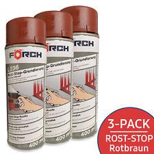 3x FÖRCH® Rostschutz Grundierung Rost Stop Grundierung Metallschutz Rotbraun 236