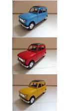 Lot 3 Renault 4L R4 Bleu, Rouge, Jaune 1/38 Welly NEUF Boite d'origine