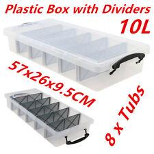 Boxsweden 10L Compartment Plastic Storage Box - Clear (DWS-UN44506)