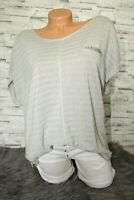 Italy T- Shirt Vintage Gr. 36 38 40 42 Blogger grau Glitzer Oversized NEU Top