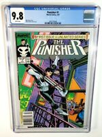 PUNISHER #1 CGC 9.8 *NEWSSTAND* *WHITE PAGES* *ORIGINAL OWNER!* 1987 MARVEL
