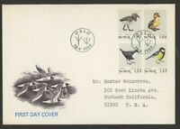 Norway Stamps Scott #759-762 on 1980 First Day Cover Fauna Birds